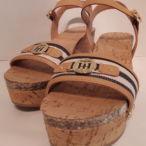 Tommy Hilfiger cork sandals